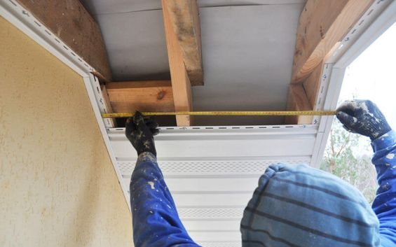 Soffits being fitted
